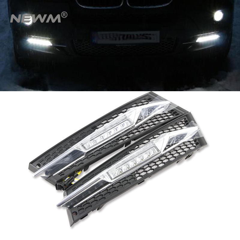 LED daytime running light for BMW LCI Coupe E92 E93 2011 2012 2013 Convert  drl fog lamp light position led turn signal light