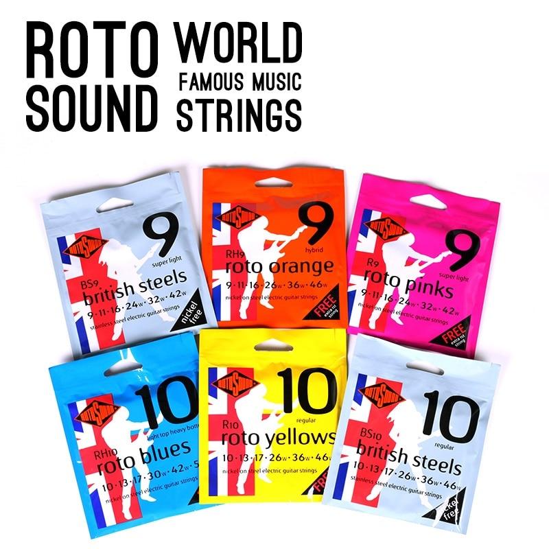 Rotosound R8 R9 R10 RH9 RH10 Nickel On Steel Electric Strings / British Steels BS9 BS10 Stainless Steel Electric Guitar Strings