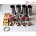 Для Isuzu 4BB1 ремонт двигателя Ремонтный комплект поршень + кольцо гильзы цилиндра коленчатый вал & con стержень подшипника прокладка