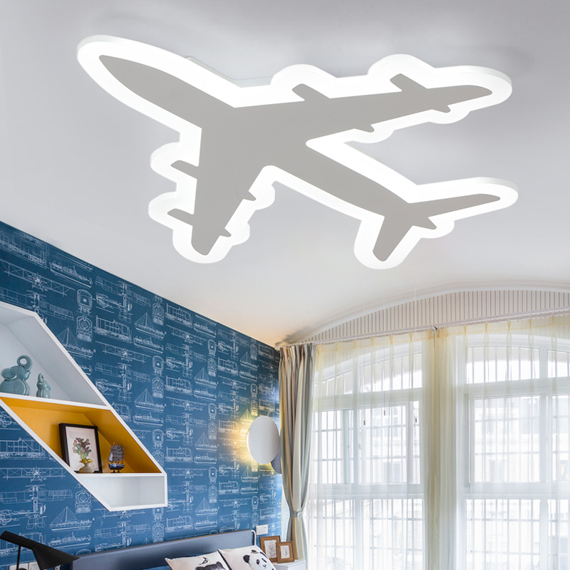 Ultra-thin aircraft Acrylic led ceiling light for living room children bedroom lighting fixtures AC110~260V dimming ceiling lamp modern minimalist ceiling lamps led lamps lighting acrylic stars children s room warm ultra thin bedroom lamp