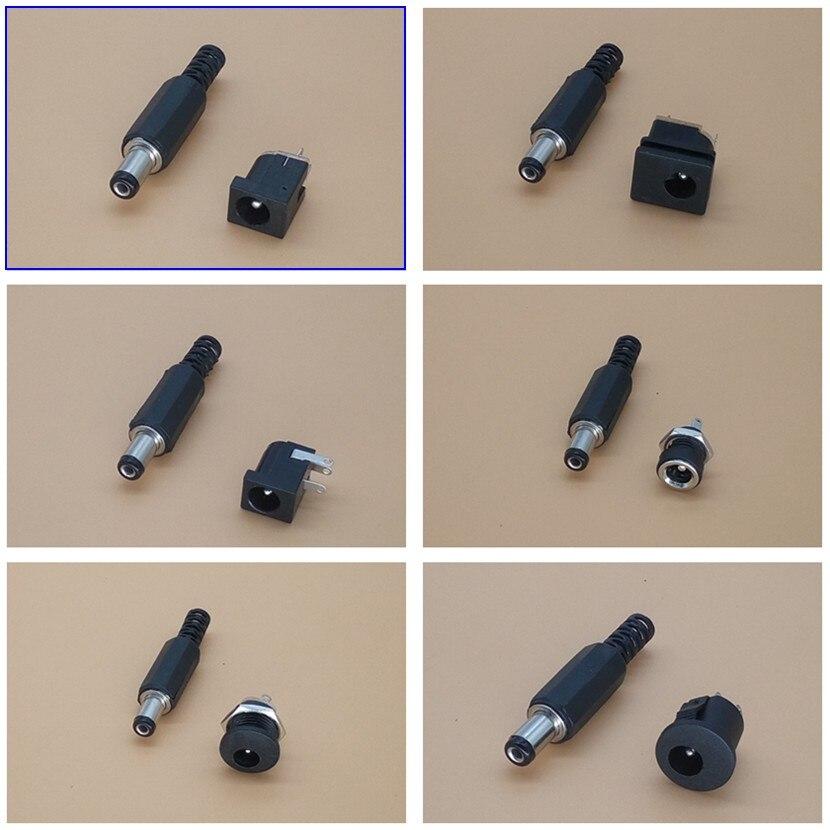10 Pairs 5.5X2.1mm DC Power Plug Male / Female Jack Plugs Socket Kit DIY Adapter Connector
