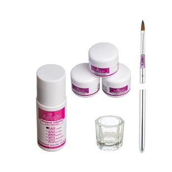 Juego de pinceles para uñas, accesorios cosméticos para uñas, polvo acrílico líquido, tiza en polvo, 6 uds.