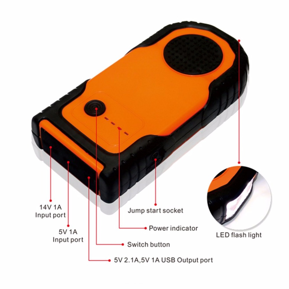 12V 30000mAh Portable Car Jump Starter Vehicle Battery Power Bank Multifunction Car Charger Emergency Power Supply for Car