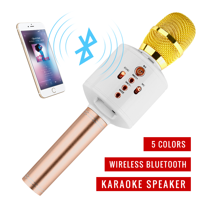 Karaoke Microphone Wireless Handheld Player Family Party Karaoke Bluetooth Echo Function Speaker For IPhone for Android Xiaomi