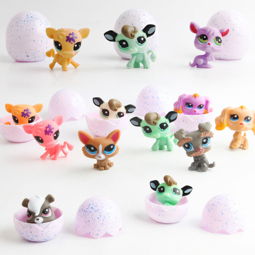 LPS Dog Toys Pet Shop Real Standing Short Hair Cat Animal Collections Great Dane Collie Dachshund Spaniel Surprise Girls Gift