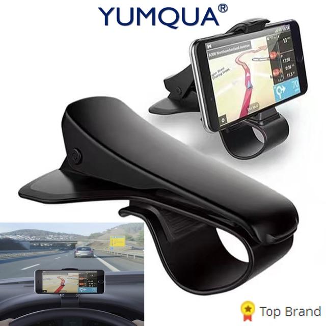YUMQUA Universal Adjustable Car Phone Holder Dashboard Mount phone ...