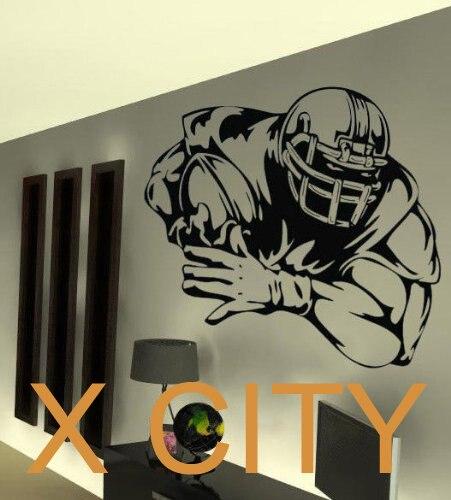 American Football Player WALL ART GRAPHIC STICKER DIE CUT VINYL ...