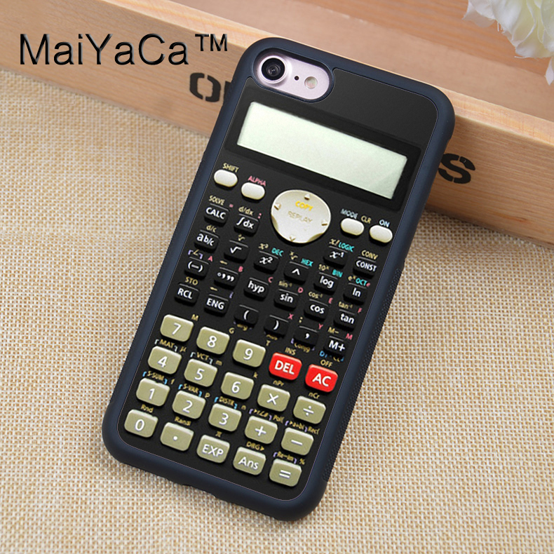 MaiYaCa Calculator <font><b>Original</b></font> Printed Soft TPU Skin Mobile Phone <font><b>Case</b></font> For <font><b>iPhone</b></font> 6 6S Plus 7 <font><b>8</b></font> Plus X 5 5S 5C SE Back Cover Shell image