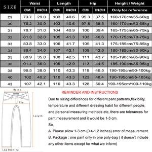 Image 5 - NIGRITY 2020 Mens ג ינס עסקי מזדמן ישר לחתוך שחור & כחול ג ינס למתוח ג ינס מכנסיים מכנסיים קלאסי בתוספת גודל גדול 28 42