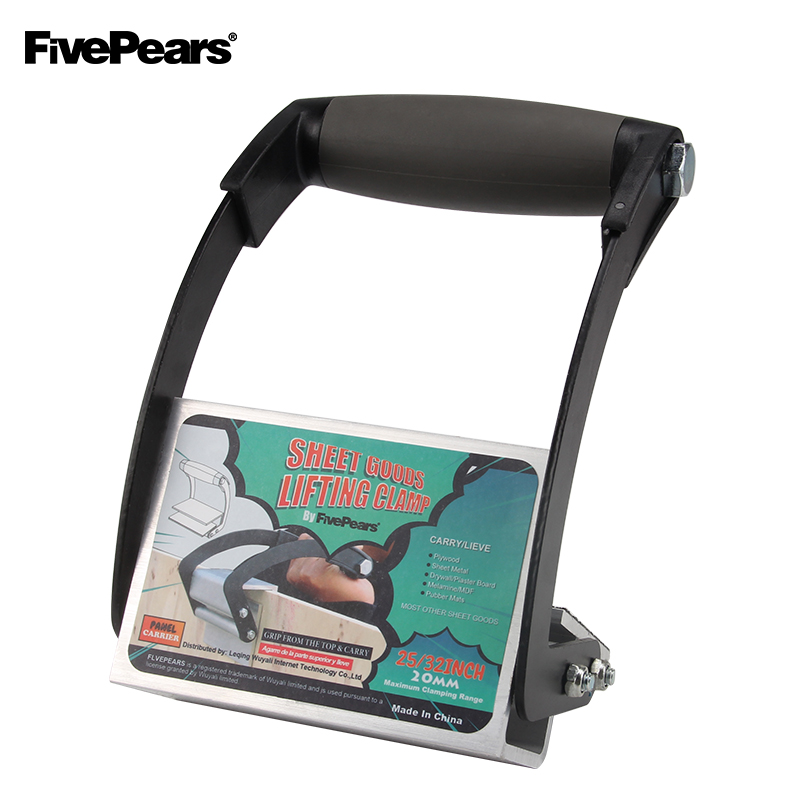 FivePears Plywood and Sheetrock Panel Carriers,Heavy Duty Gripper,Drywall Hand Clamps Tools with Single Hand