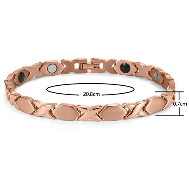 Купить модный магнитный титановый браслет welmag для здоровья спортивные