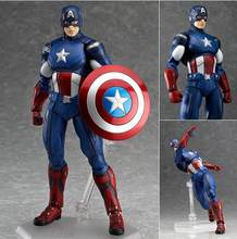 Marvel os Vingadores 3 Capitão América Figma 226 PVC Action Figure Collectible Modelo Toy 16 cm(China)