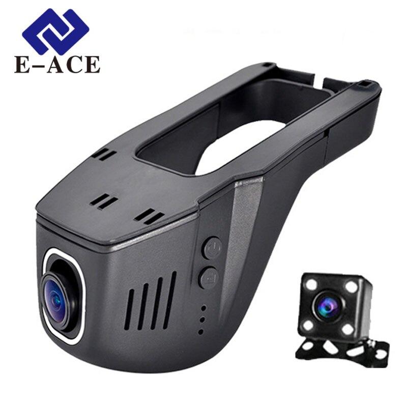 E ACE Hidden Mini Wifi Camera Car Dvr Dual Lens Auto Video Recorder Dashcam Registrator DVRs