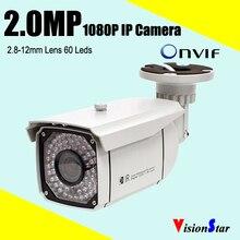 1080 P ip камера открытый камеры безопасности p2p 1080 P варифокальный объектив ик cctv камеры