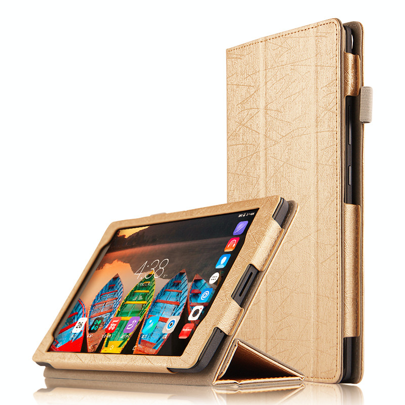 Fashion Flip Folding stand Case Cover For Lenovo P8 Tab3 Tab 3 8 Plus TB-8703F / TB-8703N 8.0 inch Tablet cases slim fit stand feature folio flip pu hybrid print case for lenovo tab 3 730f 730m 730x 7 inch