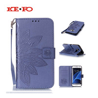 For Samsung Galaxy S2 S3 S4 S5 S6 S7 Edge Luxury Embossing Flower Leather Case Cover