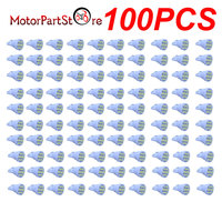 100PCS Cool White T10 Side Wedge 8SMD LED Interior Dome License Plate Light Bulb @15