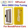 10 pçs/lote Benzina & Gasolina Nitro Carros OBD2 Plug & Drive OBD2 ECU Tuning Chip BOX OBD2 Scanner de Diagnóstico Do Carro Cor amarela Nitro OBD2