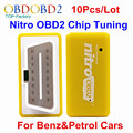 10pcs/Lot Benzine&Petrol Cars Nitro OBD2 Plug&Drive OBD2 ECU Chip Tuning BOX OBD2 Car Diagnostic Scanner Yellow Color Nitro OBD2