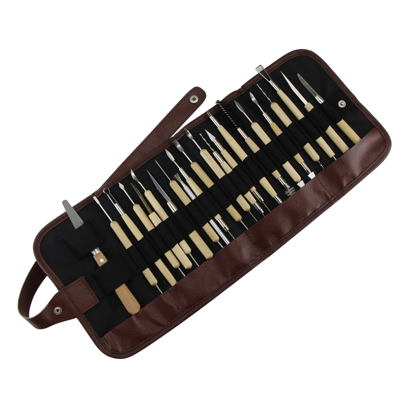 22pcs/set  Laser Wire Penholder Tool Kit Fine Carving Tool Clay Knife Soft Clay Pottery Tool