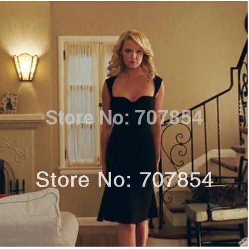 2014 Katherine Heigl Sexy Backless Little Black Dress To ...