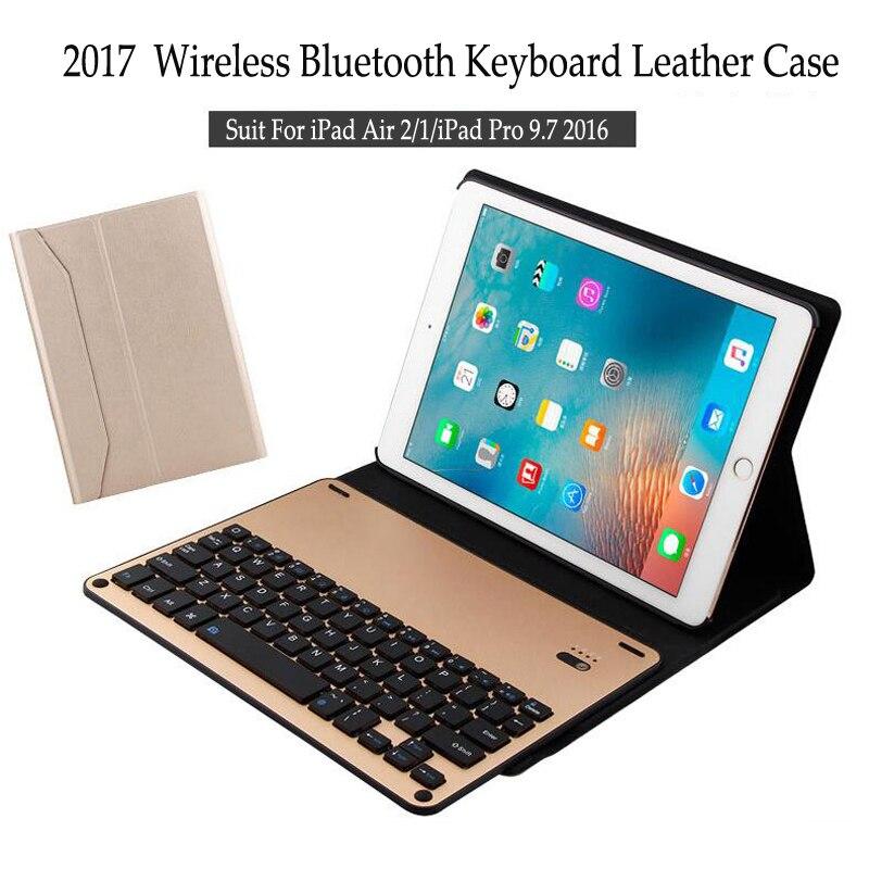 For iPad Pro 9.7 inch (2016) Wireless Bluetooth Keyboard Case For iPad Pro 9.7'' Tablet Aluminum Alloy Flip Stand Cover+Stylus for ipad pro 10 5 inch wireless bluetooth keyboard case 10 5 tablet aluminum alloy stand cover flip capa stylus