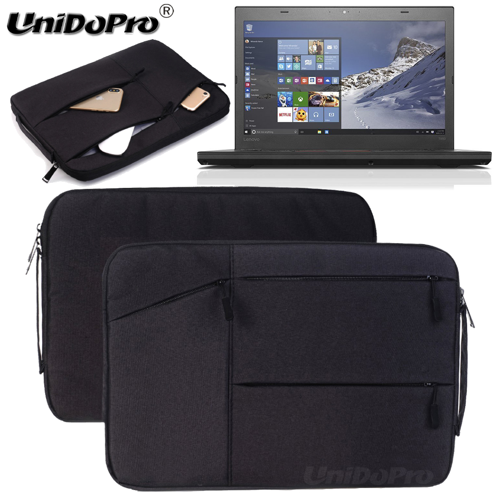 Unidopro Multifunctional Laptop Sleeve Briefcase for Lenovo Flex 4 14 Full HD Touchscreen Notebook Mallette Carrying Bag Cover