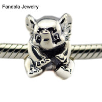Silver Charms Fits Pandora Bracelets 925 Sterling Silver Beads For Jewelry Making Lucky Elephant Silver Bead