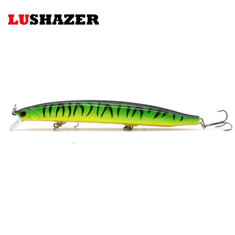 LUSHAZER Minnow fishing lure 19g 140mm hard bait carp fishing isca artificial bait boat cheap lures China fish supplies baits 1 pack clean dry maggots for fishing high protein nutritious fish bait food winter carp fishing baits
