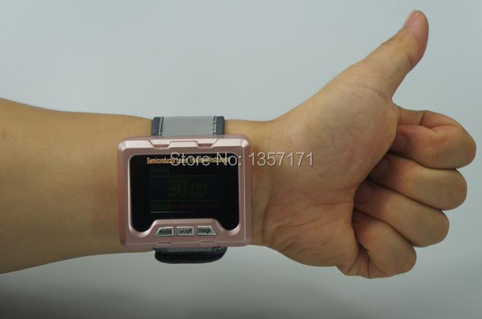 Low intensity laser therapy wrist type medical laser therapy equipment low level laser light therapy hemodynamic metabolic wrist type pulse laser