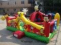 2016 ao ar livre playground inflável/inflável grande trampolim inflável/castelo inflável pulando bouncer