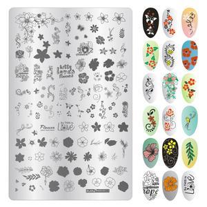 Image 2 - Трафареты маникюрные для дизайна ногтей, 9,5*14,5 см