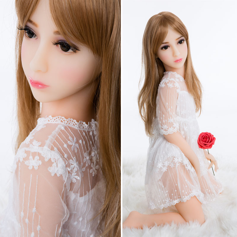 100cm Japanese anime full silicone mini sex doll Realistic Lifelike full body solid silicone sex love