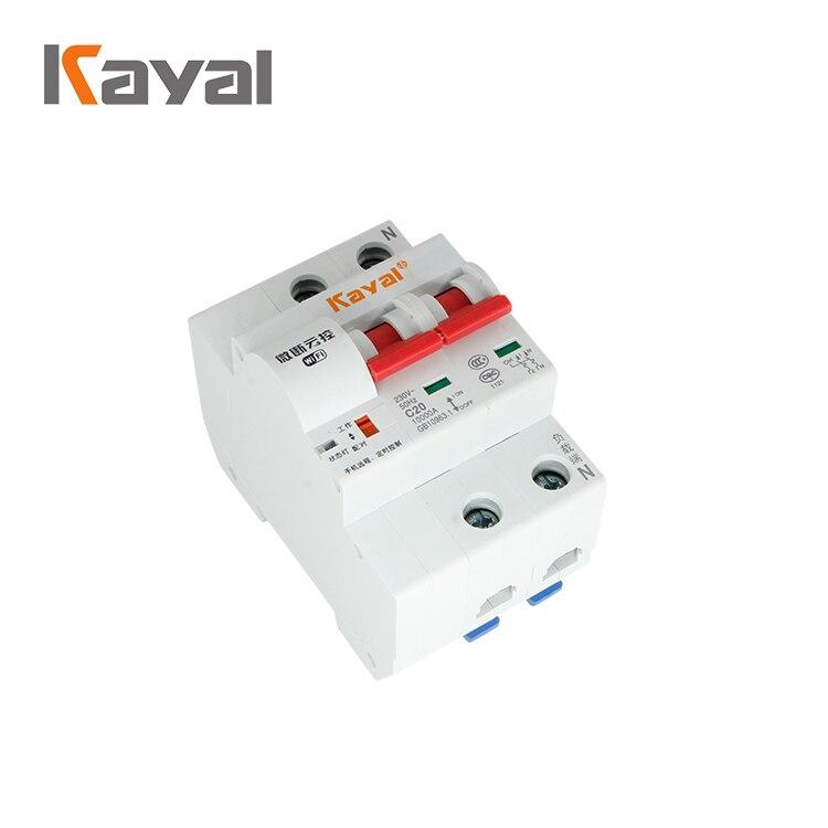 Authentique Kayal WiFi MCB 1 2 3 4 sans fil activé intelligent à distance résidentiel automatique disjoncteur MCB