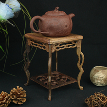 Collection display stand  value Pedestal platporm stone flower pot  teapot base mahogany base crafts showcase display cabinet