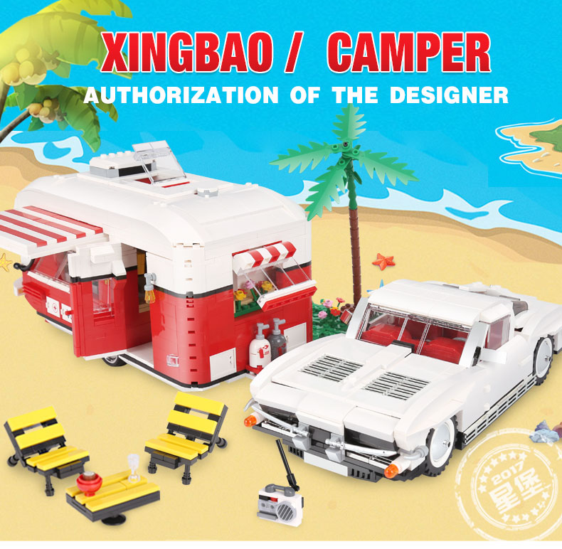 XingBao 08003 2436Pcs New Creative Series The MOC Camper Set Children Educational Building Blocks Bricks Toys For Children GiftsXingBao 08003 2436Pcs New Creative Series The MOC Camper Set Children Educational Building Blocks Bricks Toys For Children Gifts