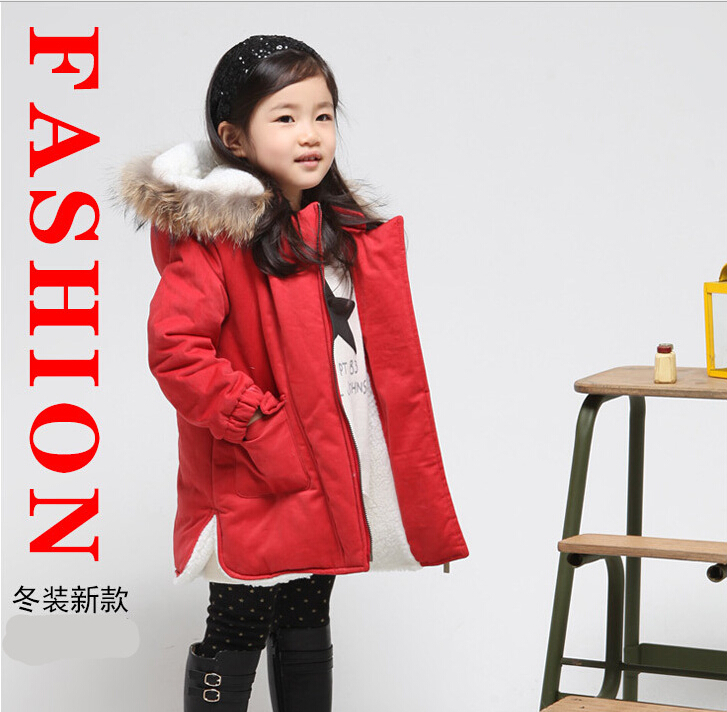 2015 Korean version of the new winter thick warm coat jacket coat Korean girl girls coat cotton jacket fur collar детский велосипед для мальчиков novatrack cosmic 16 2017 blue