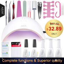 Azure Beauty SUN9C Plus & 3 Color Gel Nail Art Base Tool Soak off LED Gel Nail Base Top Coat Gel Nail Polish Manicure Set