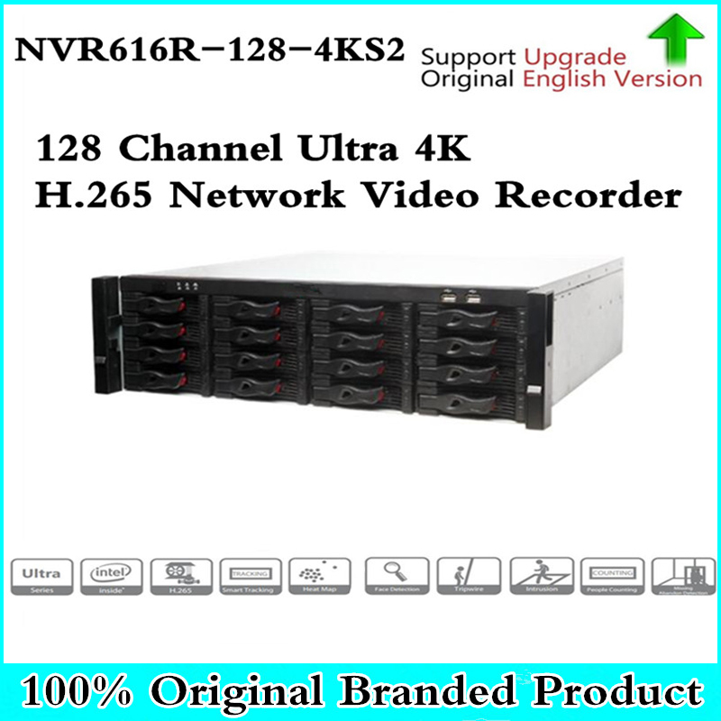 где купить Original DH English version NVR616R-128-4KS2 128 Channel Ultra 4K H.265 Network Video Recorder NVR free shipping дешево