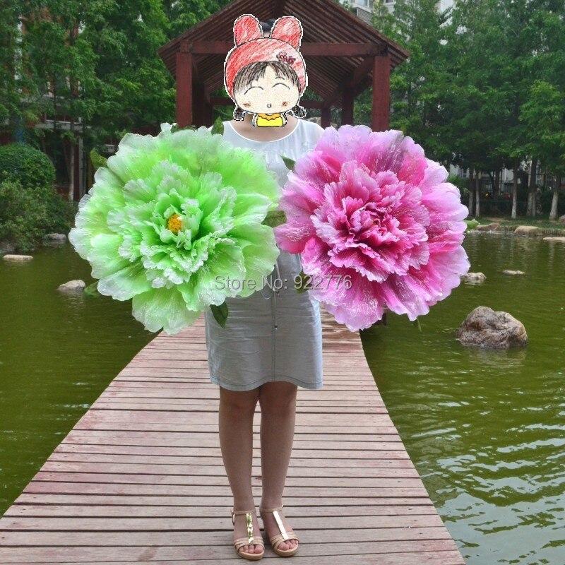 The largest flower peony simulation wedding flower art exhibition ...