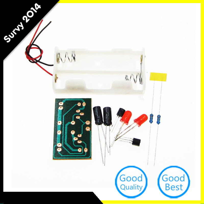 Simple Flash Light Simple Flash Circuit Multivibrator Circuit DIY Kit For Electronic Teaching Parts