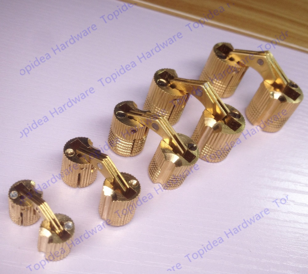 Dia 12mm 14mm brass cylindrical hinge hidden furniture for Furniture 99 invisible