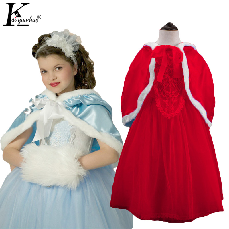 Girls Party Dress Anna Elsa Princess Christmas Dresses For Girls Clothes Toddler Children's Clothing Halloween Costume For Kids sosocoer girls princess dress anna elsa dress children clothing new summer brand lace toddler girl dresses kids clothes outfits