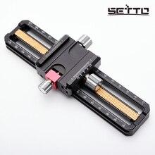SETTO 170 мм Макро фокусировка рельс слайдер крупным планом съемка головка с Arca-Swiss Fit зажим быстросъемная пластина для штатива шаровой головки