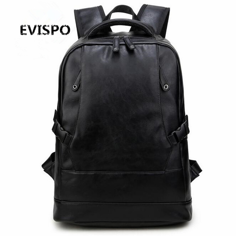Preppy Style Men Backpack School Bags For Teenagers Leather Travel Bag Backpack Male Deep black Cover Schoolbag Mochila purple flowers printed dream teenagers backpack fresh preppy adorable sthdents school bags fashion travel hiking computer bag
