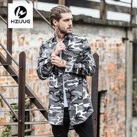 Multicam Camo Camisas Casacos Mens Hipster HZIJUE Letra Impressa Camisas de Combate Do Exército Camisa de Manga Longa 2017 Hem Curvo Com Espinhel