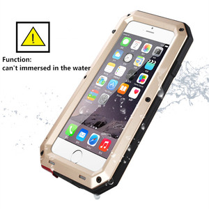 Image 4 - Luxury Doom Armor Life Shock Dropproof Shockproof Hybrid Metal Aluminum Protective Case for iPhone 8 7 5 5S SE X 6 S 6S Plus