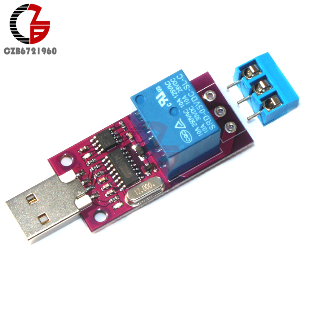 CH340 Smart Programmable Timing Delay DC 5V 1 Channel Time Delay Relay Module CH340G USB Timer Control Switch Board USB To TTL