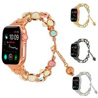Women Agate Gem Smart Watch Strap Metal Noctilucent Jewelry Watchband Smartwatch Accessories Female New Watchbands Wrist Band