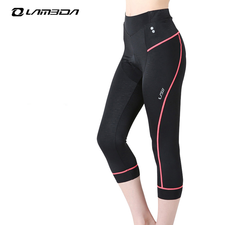 46d59d6977f LAMBDA 2018 women cycling pants 3D GEL padded long pants 4 3 pants Qucik Dry
